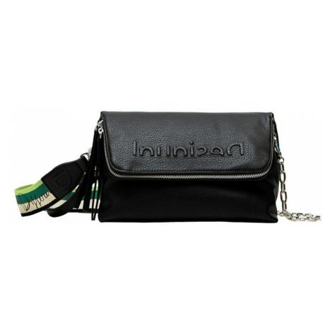 Desigual čierne crossbody kabelka Bols Embossed Half Logo Venecia