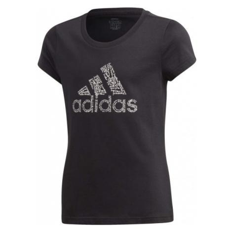 adidas YG BADGE OF SPORT TEE - Dievčenské tričko