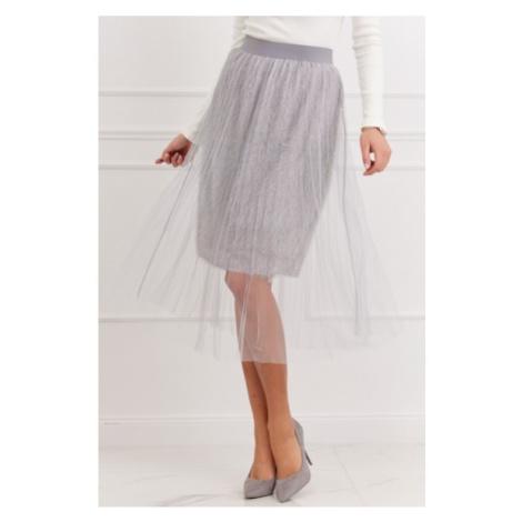 Pôsobivá tylová sukňa, sivá FASARDI