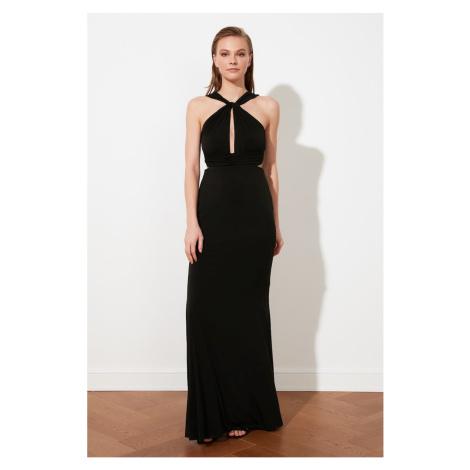 Trendyol Black Collar Detail Evening Dress & Graduation Dress