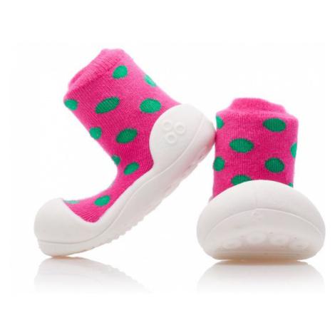 ATTIPAS Dievčenské topánočky Polka Dot, veľ. - ružová