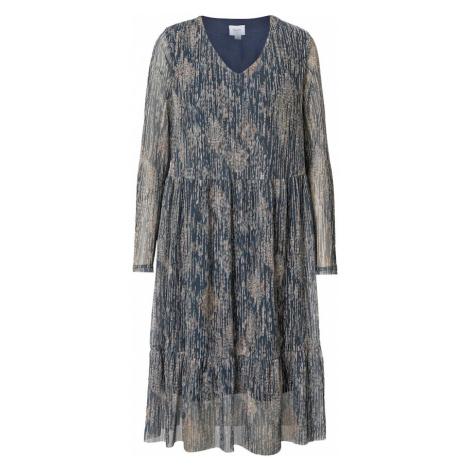 SAINT TROPEZ Šaty 'Emia'  modrosivá / sivobéžová