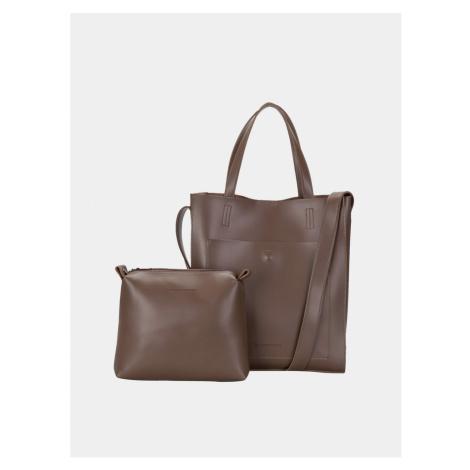 Brown handbag with detachable Claudia Canova case