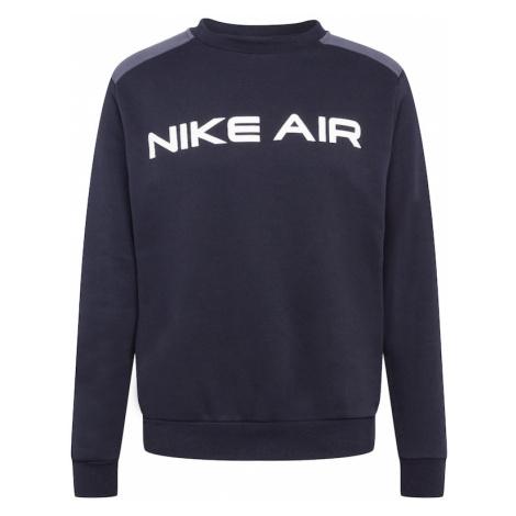 Nike Sportswear Mikina  biela / čierna / sivá melírovaná