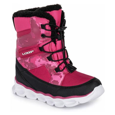 Ružové dievčenské zimné topánky LOAP