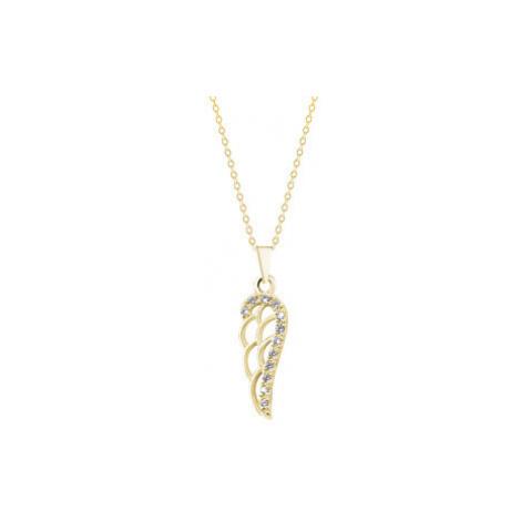 Brilio Prívesok Anjelské krídlo zo žltého zlata 001 00