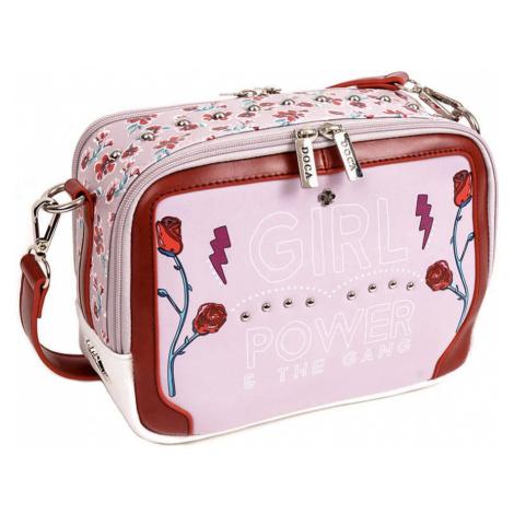 Ružovo-biela obojstranná kabelka – Girl Power Cross Body D . . A