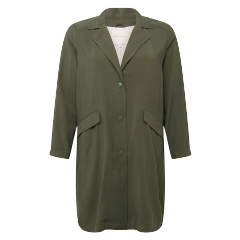 ONLY Carmakoma Prechodný kabát  tmavozelená