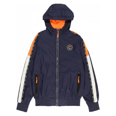 Cars Jeans Prechodná bunda 'GALWAY'  námornícka modrá / biela / oranžová