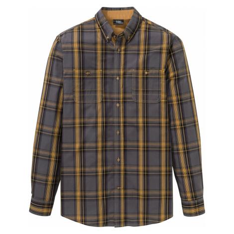 Károvaná košeľa s dlhým rukávom bonprix