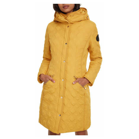 Desigual horčicový kabát Padded Leicester