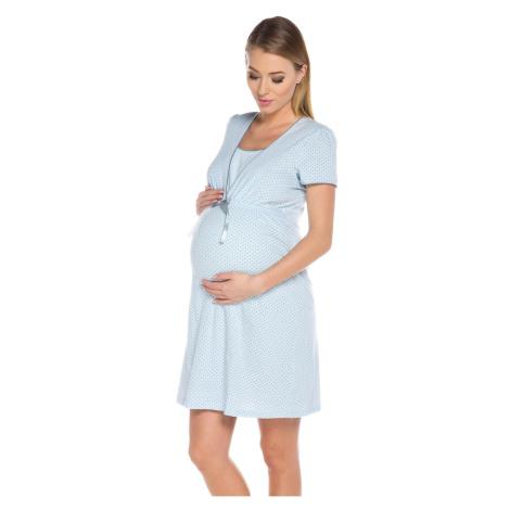 Mateřská noční košilka Italian Fashion Felicita Svetlomodrá