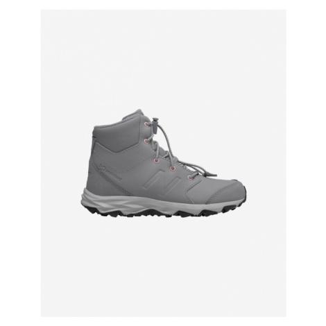 Sivá chlapčenské trekové a outdoorové topánky