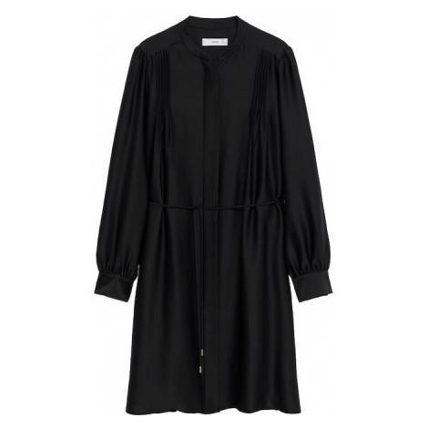 MANGO Košeľové šaty 'Albani'  čierna