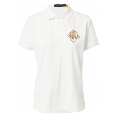 POLO RALPH LAUREN Tričko  biela / hnedá