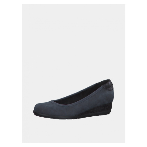 Dark blue ballerinas on wedge s.Oliver