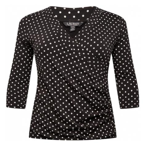 Lauren Ralph Lauren Tričko 'RAYON'  čierna / biela