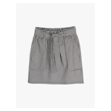 GATE Kockovaná vrecová mini sukňa