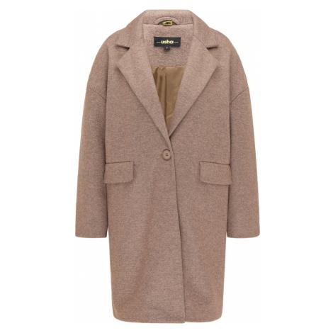 usha BLACK LABEL Prechodný kabát  hnedá melírovaná