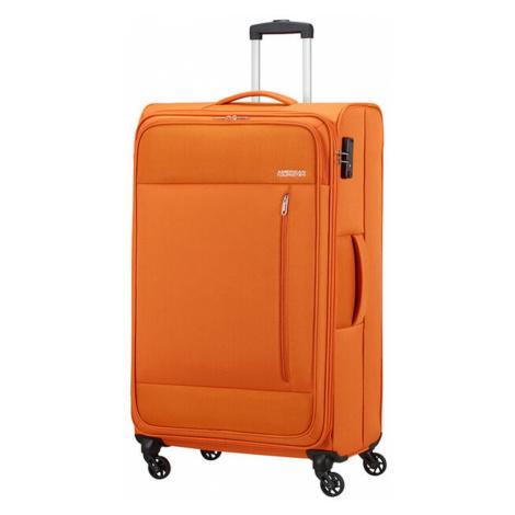 American Tourister Látkový cestovní kufr Heat Wave L 92 l - oranžová