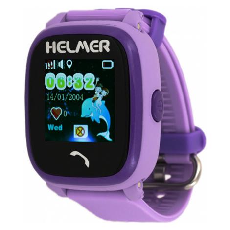 Helmer Chytré dotykové vodotěsné hodinky s GPS lokátorem LK fialové