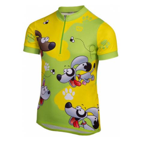Detský Cyklistický Dres Etape Rio Zeleno-Žltý