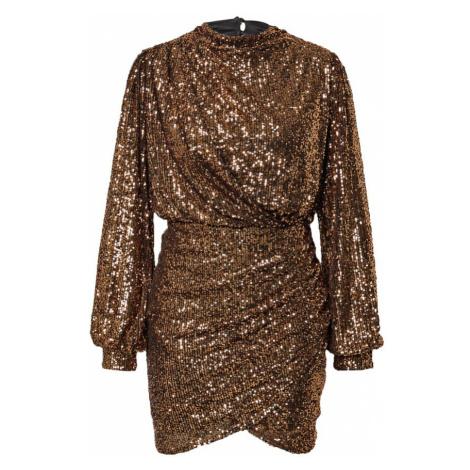 Dorothy Perkins Kokteilové šaty  bronzová