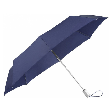 Samsonite Skladací automatický dáždnik Alu Drop S Safe 3 - modrá