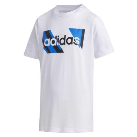 adidas YB Q2 T biela - Chlapčenské tričko