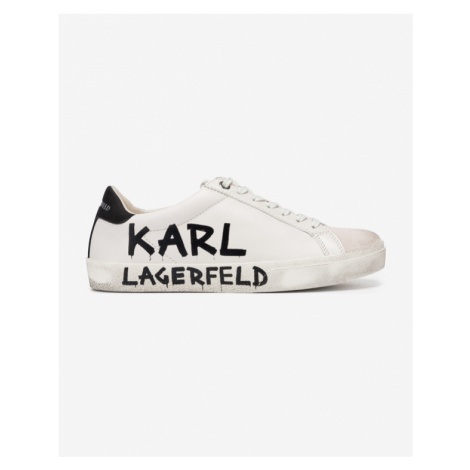Karl Lagerfeld Skool Brush Logo Tenisky Biela