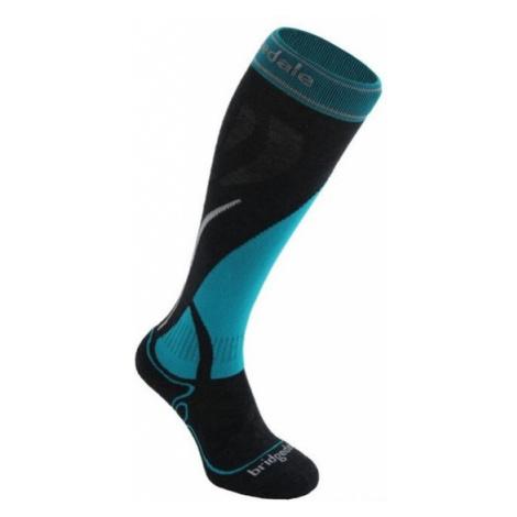 Ponožky Bridgedale Ski Midweight Women's gunmetal/turquoise/004