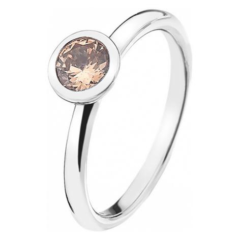 Hot Diamonds Strieborný prsteň Emozioni scintilla Champagne Loyalty ER016 mm
