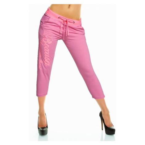 Dámske nohavice Capri Furry ružové