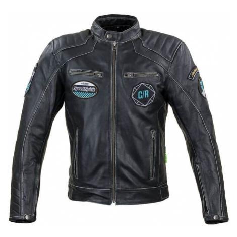 Kožená moto bunda W-TEC Losial Farba čierna