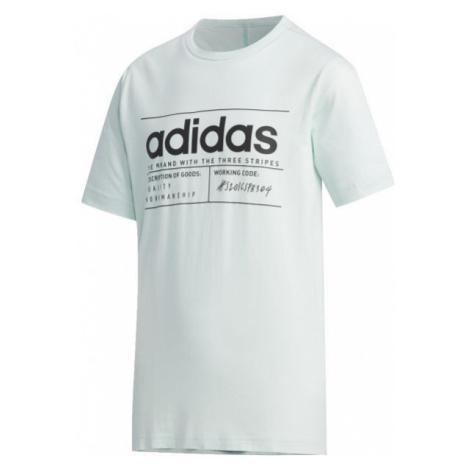 adidas YB BB T svetlo zelená - Chlapčenské tričko