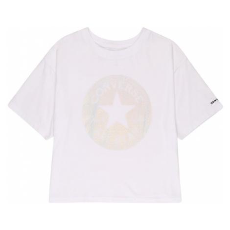 CONVERSE Tričko  biela / zmiešané farby