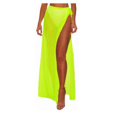 Plážová maxi sukňa - žltá