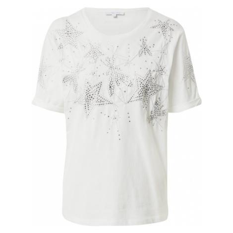 PATRIZIA PEPE Tričko 'MAGLIA'  biela / strieborná