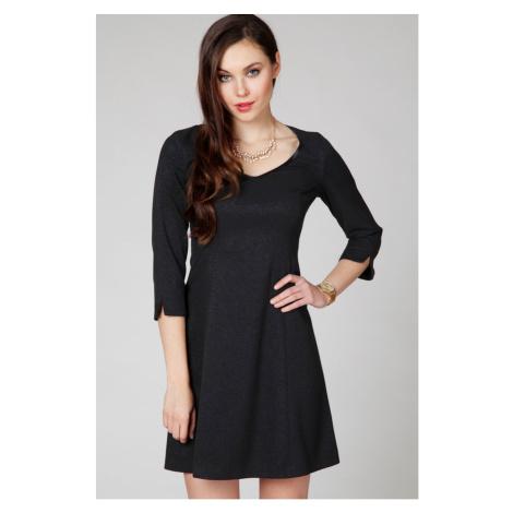 Čierne šaty ASU0026 Ambigante