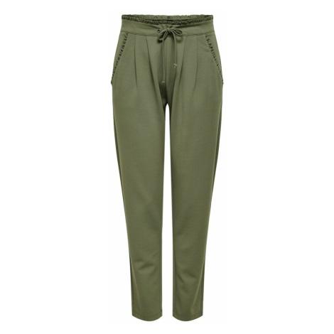 JDY Plisované nohavice  kaki