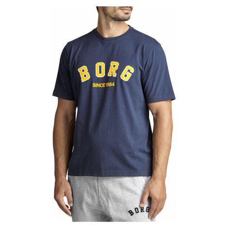 Pánske tmavomodré tričko Tee Borg Sport Bjorn Borg