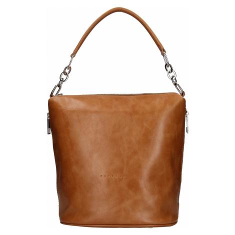 Dámska kožená kabelka Facebag Talma - koňak