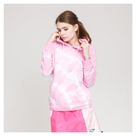 Urban Classics Ladies Tie Dye Hoody ružová / biela