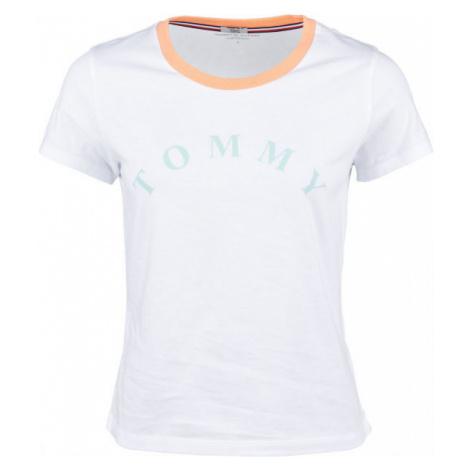 Tommy Hilfiger SS TEE SLOGAN biela - Dámske tričko