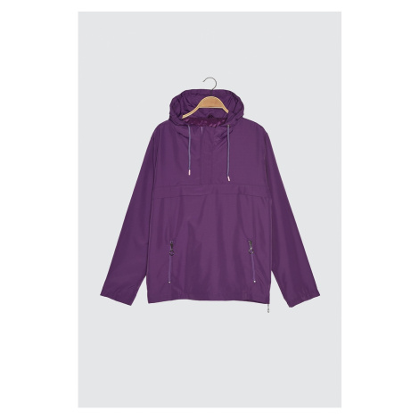 Trendyol Purple Male Half Zipper Detail New Coat