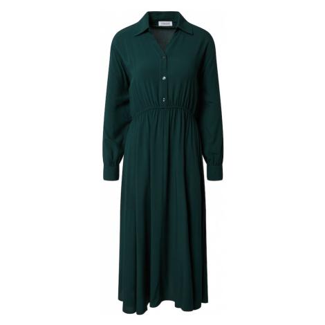 EDITED Košeľové šaty 'Lisette'  zelená
