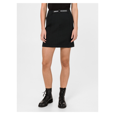 Sukně Armani Exchange Čierna