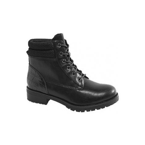 Čierna šnurovacia obuv so zvieracím vzorom Landrover