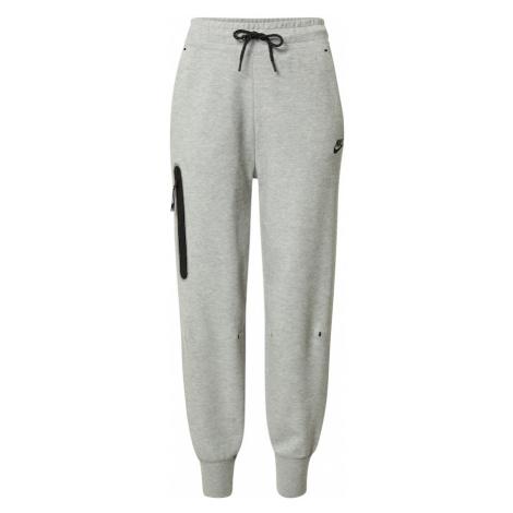 Nike Sportswear Nohavice  sivá melírovaná / čierna