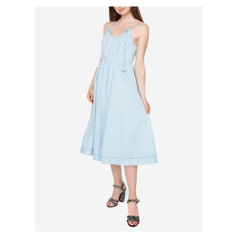 Dobby Šaty Juicy Couture Modrá